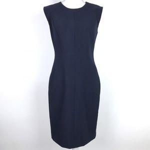 Rebecca Taylor Dress Navy Blue Exposed Back Zipper